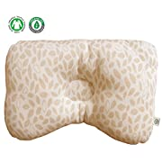 (Leaves) Organic Cotton Baby Protective Sleeping Pillow.From Newborn Prevent from flat head.Natural Organic