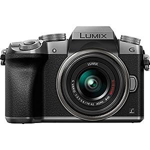 Panasonic LUMIX G7 DMC-G7KS DSLM Mirrorless 4K Camera kit with 14-42 mm Lens and 32GB memory card (Silver)