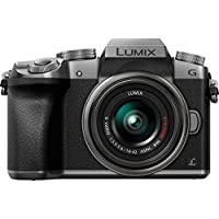 Panasonic LUMIX G7 DMC-G7KS DSLM Mirrorless 4K Camera kit with 14-42 mm Lens and 32GB memory card (Silver)