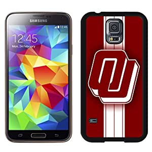 Beautiful And Popular Designed With NCAA Big 12 Conference Big12 Football Oklahoma Sooners 8 Protective Cell Phone Hardshell Cover Case For Samsung Galaxy S5 I9600 G900a G900v G900p G900t G900w Phone Case Black