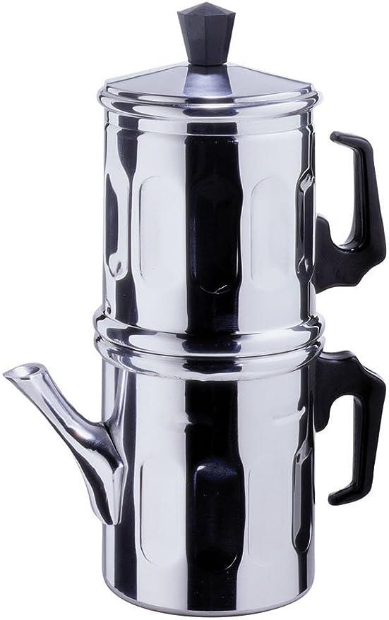Cafetera tradicional napolitana de aluminio, para 1-2 tazas: Amazon.es: Hogar