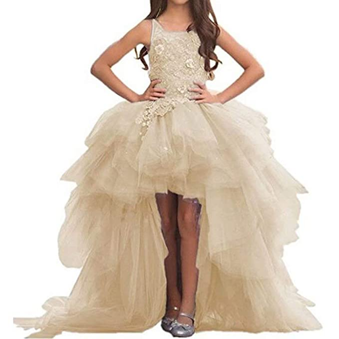 c729028416e Angel Dress Shop Flower Girl Dress First Communion Lace Tulle Appliques  Pageant Wedding Puffy Dress