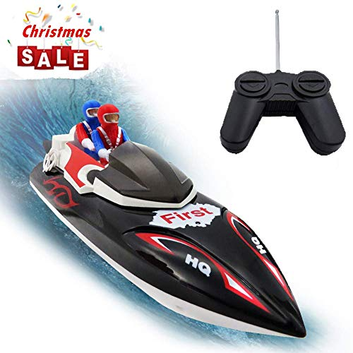 Control Remote Speed (KOLAMAMA RC Boat, Remote Control Boat for Kids&Adults,2.4Ghz 4CH Electric Racing Boat for Pools and Lakes,Kids Boat Toy)