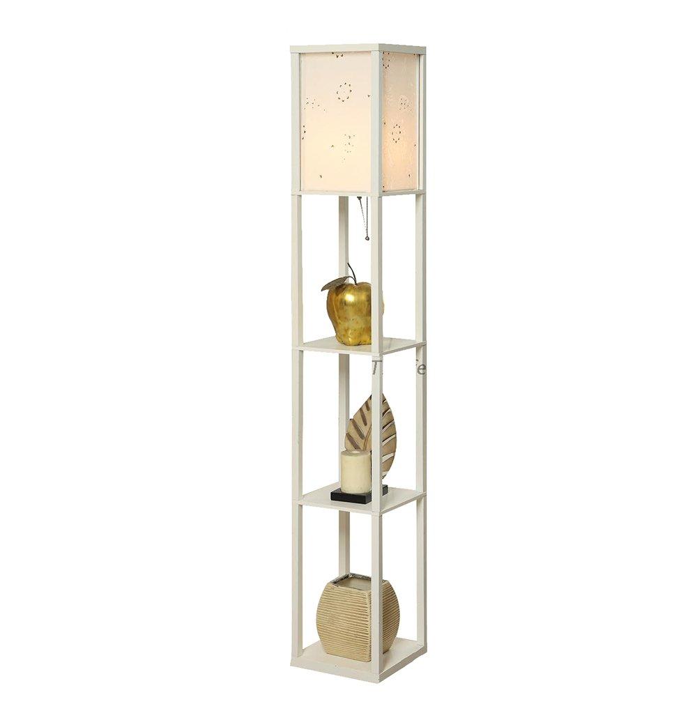 Regal Stehlampe Wohnzimmer Schlafzimmer Nachttisch weiße Stehlampe