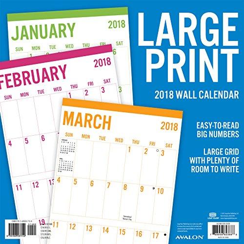 "Avalon 2018 Print Basic Wall Calendar 12"" x 12"" Buy line in UAE"
