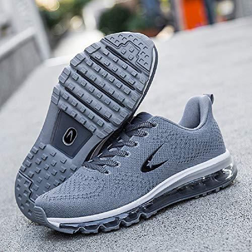 Uomo Scarpe A Donna Sportive Sneakers Running Grigio Fitness Corsa Da Ginnastica xgrTEwqFg
