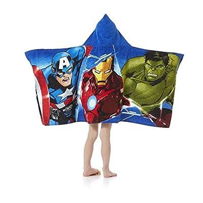 Marvel Comics Avengers Kids Hooded Towel Wrap for Bath, Pool or Beach