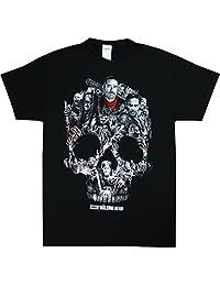Walking Dead mens The Walking Dead Skull Montage T-Shirt