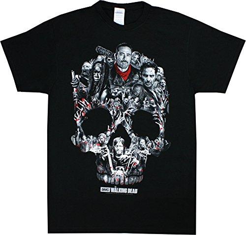 - Walking Dead The Skull Montage T-Shirt Large Black