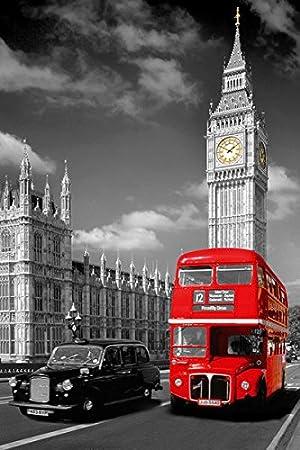 Amazon.com: Londres, Big Ben de Inglaterra – cartel/Imprimir ...