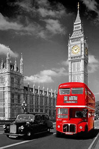 Amazon.com: Londres, Big Ben de Inglaterra – cartel/Imprimir ...
