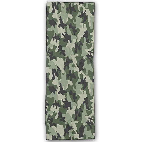 Camouflage Foldable Non Slip Absorbent Yoga Towel Ideal For Hot Yoga Bikram Ashtanga Pilates