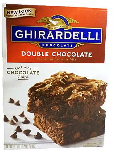 Ghirardelli Chocolate - Double Chocolate Premium Brownie Mix 18 oz. (Pack of 2)