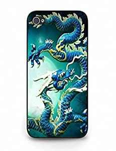 Durable Case Vintage Dragon Pattern for Iphone 5 5S