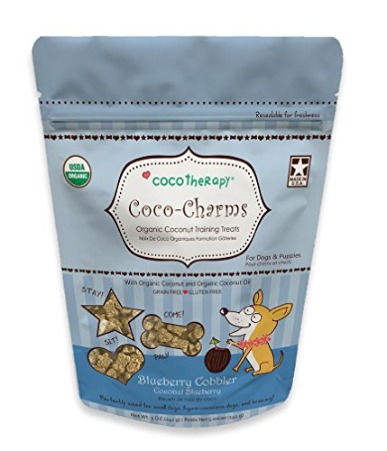 #1 All Systems Cocotherapy Coco-Charms Training Treats - Blueberry Cobbler, (1 Pouch), 5 oz