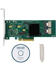 PCIe SATA kaart, 8-poorts PCIe SAS/SATA controllerkaart 6 Gbit/s voor SAS 9211-8i 2008E SATA3 4T harde schijf, LSI 2008-8I-chip