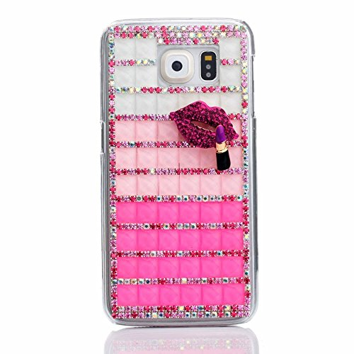 KAKA S6 Case, Galaxy S6 Case (TM) 3D Handmade Bling Crystal Diamond Flowers Hard Case Cover Faceplate for Samsung Galaxy S6 with Package