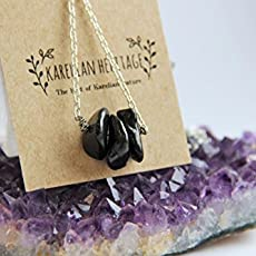 Black Crystal Holistic Energy Jewelry Karelian Heritage Natural Shungite String Yoga Bracelet