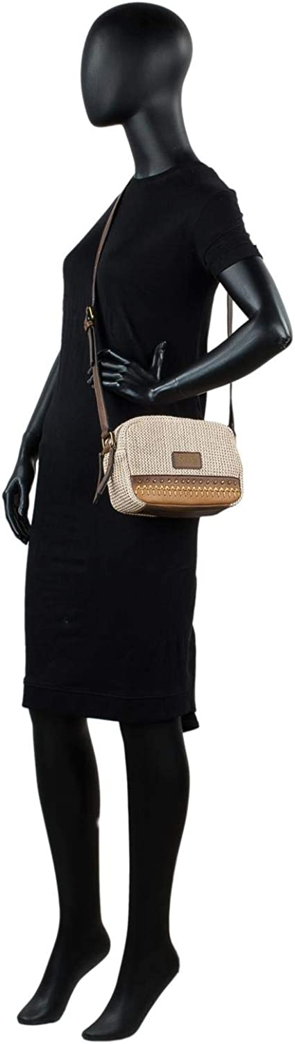 Comfortable Perfect for Everyday Usage Functional and Elegant Lightweight SKPAT 307981 Shopper Bag for Woman with Extra Shoulder Strap Synthetic Leather and Raffia