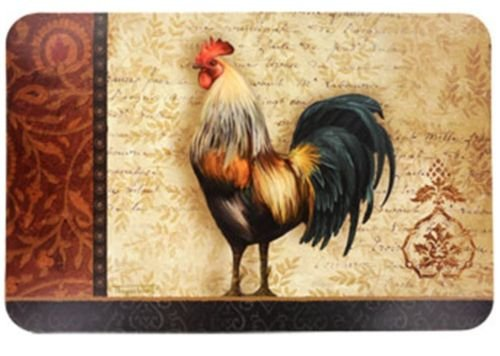 The Pecan Man Set of 4 Kitchen Table 100% Rooster Placemats 11.0 x 17.0