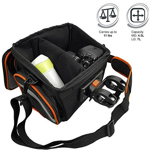 IBERAUSA Ibera Bike Handlebar Bag for Camera Equipment, Clip on Quick Release Bicycle Bag with Rain Cover and Map Sleeve