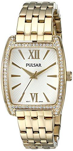 Pulsar Women's PH8096 Night Out Analog Display Japanese Quartz Gold Watch