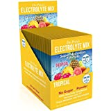 Electrolyte Mix Super Hydration Formula + Trace Minerals | NEW! Tropical Flavor (30 powder packets) Sports Drink Mix | Dr. Price's Vitamins | No Sugar, Non-GMO, Gluten Free & Vegan