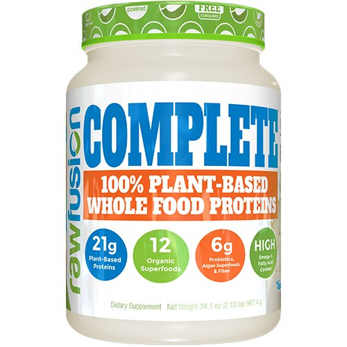 SAN Nutrition RawFusion Complete Plant-Based Whole Food Meal Replacement Powder, Vanilla Bean, 2 (Raw Fusion)
