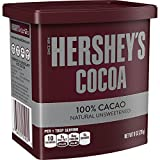 HERSHEY'S Cocoa, 100% Natural Unsweetened Cacao, 8 Ounce Can (Pack of 6)
