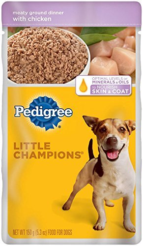 PEDIGREE LITTLE CHAMPIONS Meaty Ground Dinner With Chicken Wet Dog Food 5.3 Ounces (Pack of 24) by Pedigree Pouch (Pedigree Dog Food Pouches compare prices)