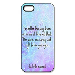 Fantastic DIY Soft TPU Protective Case with The Little Mermaid for iPhone 5 5S -Black042811 by icecream design