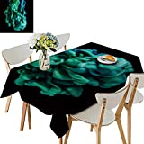 UHOO2018 Square/Rectangle Polyester Tablecloth Table Cover Ink liqui in Water creat clou Formations for Dining Room,52 x 184inch