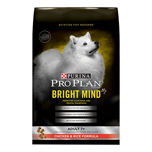 (Purina Pro Plan BRIGHT MIND Adult 7+ Chicken & Rice Formula Senior Dry Food - (1) 5 lb. Bag)