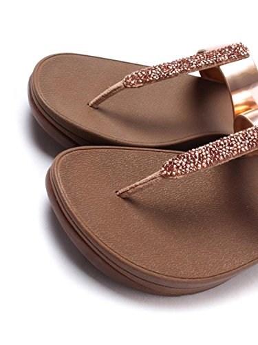 Fino Toe-Post Fitflop Femmes Slip On Sandals - Or rose