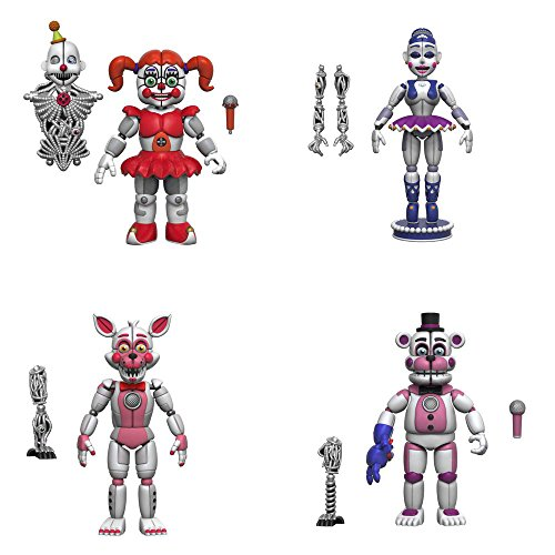 Five Nights At Freddys  5  Articulated Action Figures   Baby  Ft Foxy  Ft Freddy  Ballora Set Of 4   Ennard