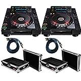 Pioneer CDJ-2000-NEXUS2 - NXS2 Digital DJ Turntable (Pair) - Free Cases and RCA Cables