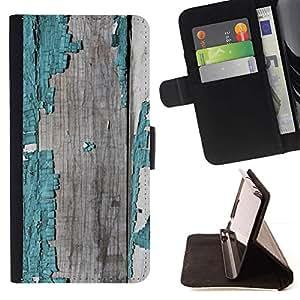 Chipped Madera Pintado Patrón Gris- Modelo colorido cuero de la carpeta del tirón del caso cubierta piel Holster Funda protecció Para Apple (4.7 inches!!!) iPhone 6 / 6S