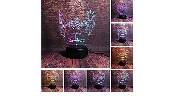 Iluminación creativa de dos colores de fantasía TIE caza ...