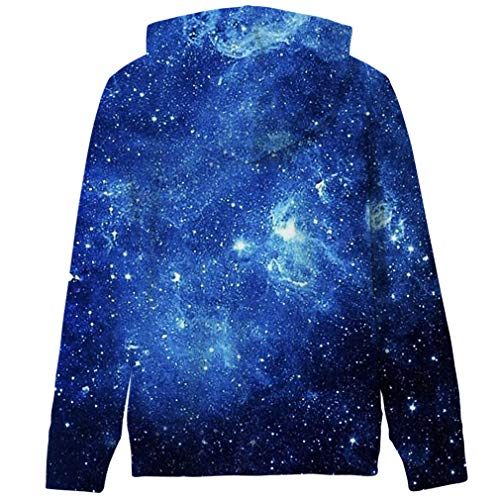 RAISEVERN Big Boys\' Youth Galaxy Teen Jackets Fleece Full Printed Hooded Hoodie 5-14Y