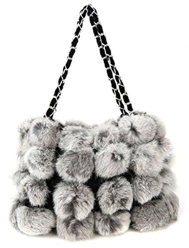 Rabbit Vogueearth Warmer m Gray Nature Band Mujer'real Winter Fur fxwqp7gU