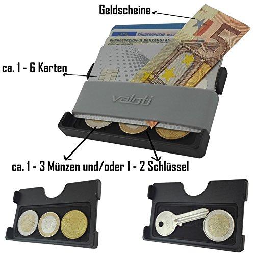 Card Manager Cabrio Slim Wallet Aus Alu Kleiner Geldbeutel Dünnes