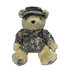 "Stuffed 18"" plush teddy bear in personalized custom embroidered or plain U.S. Army Combat Military Uniform-ACU - 51gkddM1mlL - Accented Apparel N More Stuffed 18″ plush teddy bear in personalized custom embroidered U.S. Army Combat Military Uniform-ACU"