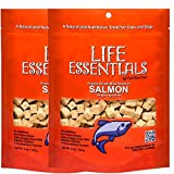 Cat-Man-Doo Life Essentials Freeze Dried Wild Alaskan Salmon Grain-Free Organic Treats for Dogs and Cats – 5 oz Resealable Bag 2 Pack For Sale