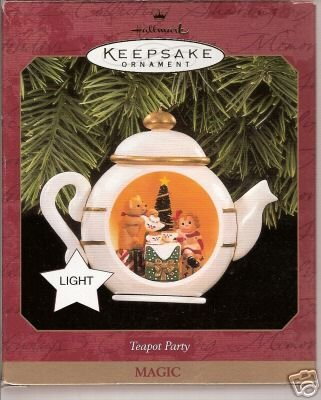 Hallmark Teapot Party Magic Ornament 1997 Light