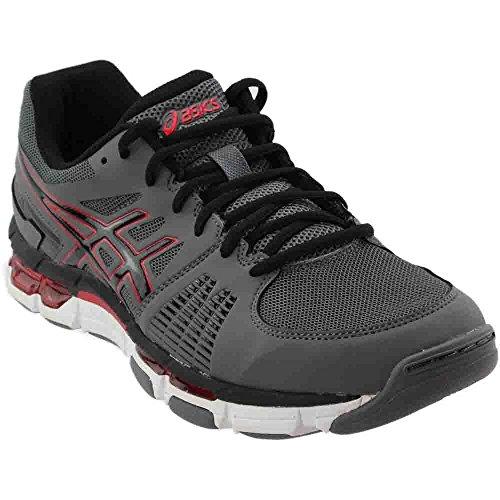 ASICS Men's Gel-Intensity 3 Cross-Training Shoe,Titanium/Onyx/Red,8 M US (Titanium Onyx)
