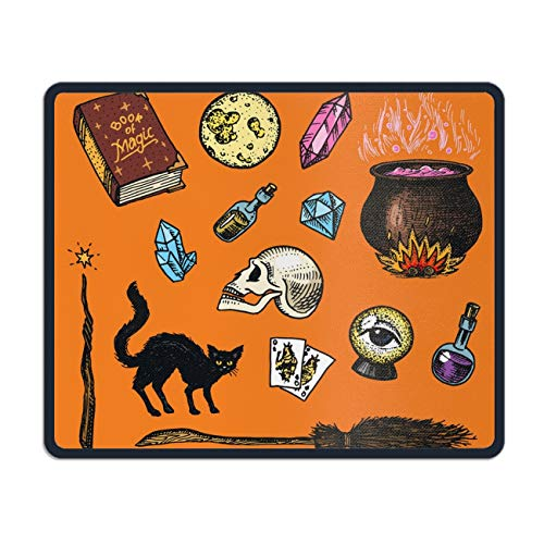 Vintage Halloween Eco Friendly Cloth with Neoprene Rubber Liil Mouse Pad Desktop Mousepad Laptop