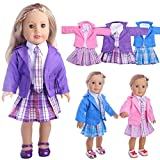 WensLTD Clearance! Cute Sweater Outfit Reindeer Snowman Sweater & Cap For 18 inch American Girl Doll (Purple)
