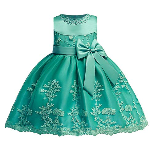 LZH Baby Girls Birthday Dress Baptism Wedding Flower Dress(Dark Green,18M) (Best Holiday Cocktail Dresses)