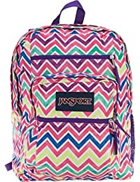 Big Student Backpack (Bright Summer Chevrons)