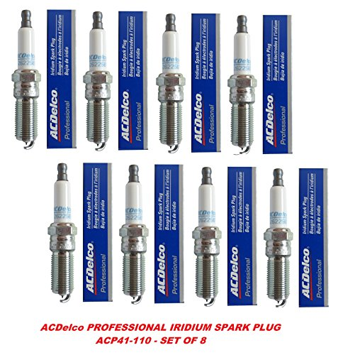Acdelco 41-110 OEM Gm 12621258 Professional Iridium Spark Plug - Set of 8